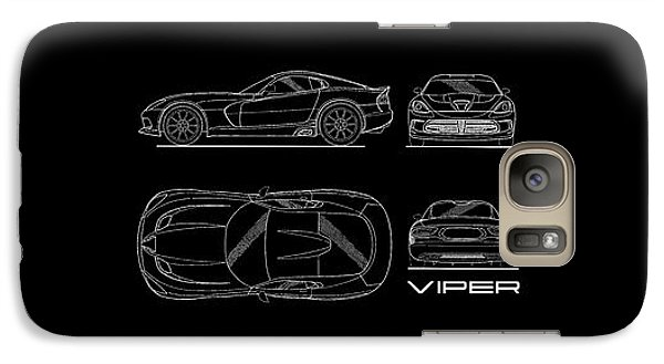 Srt Viper Blueprint Galaxy S7 Case