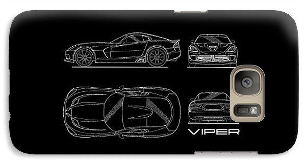 Srt Viper Blueprint Galaxy S7 Case