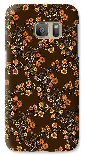 Galaxy Case featuring the digital art Autumn Flower Explosion by Methune Hively