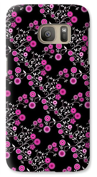 Galaxy Case featuring the digital art Pink Floral Explosion by Methune Hively