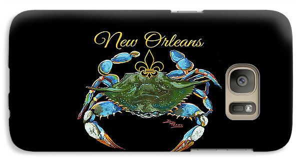 Galaxy Case featuring the painting Louisiana Blue On Red by Dianne Parks