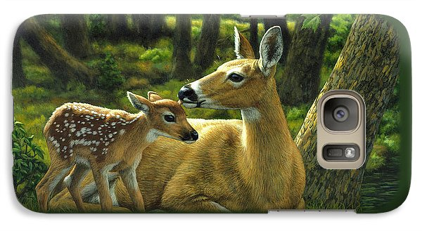 Whitetail Deer - First Spring Galaxy Case by Crista Forest