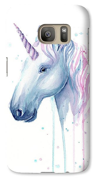 Magician Galaxy S7 Case - Cotton Candy Unicorn by Olga Shvartsur