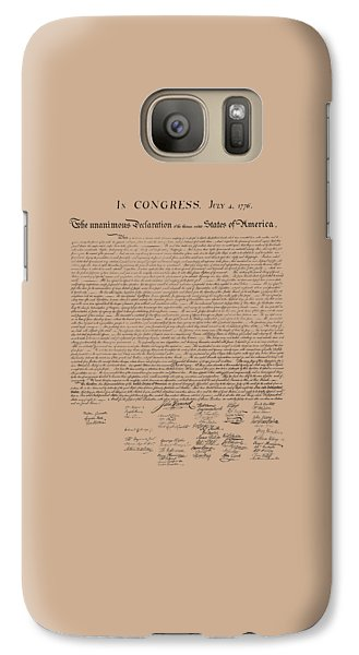 The Declaration Of Independence Galaxy S7 Case by War Is Hell Store