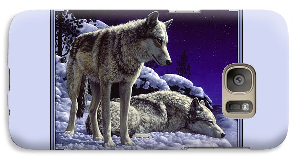 Wolf Painting - Night Watch Galaxy S7 Case