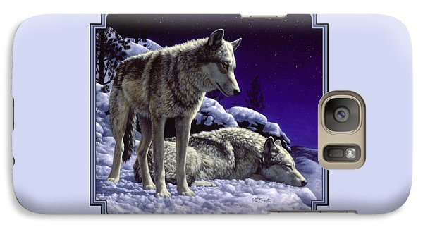 Wolf Painting - Night Watch Galaxy Case by Crista Forest