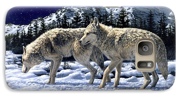 Wolves - Unfamiliar Territory Galaxy S7 Case by Crista Forest