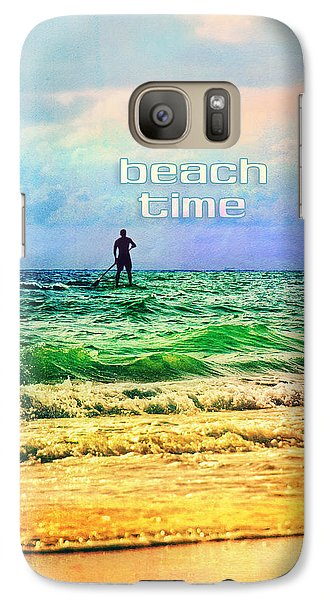 Galaxy Case featuring the photograph Beach Time by Tammy Wetzel
