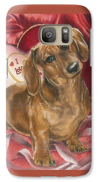 Galaxy Case featuring the mixed media Please Be Mine by Barbara Keith
