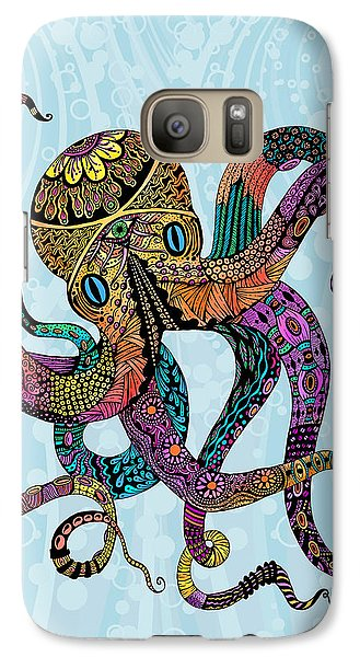 Galaxy Case featuring the drawing Electric Octopus by Tammy Wetzel