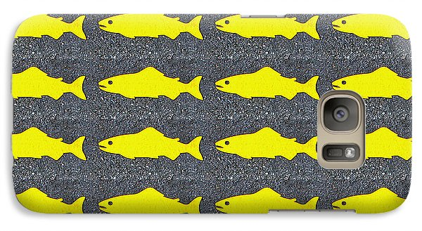 Galaxy Case featuring the photograph Yellow Fish by Ethna Gillespie