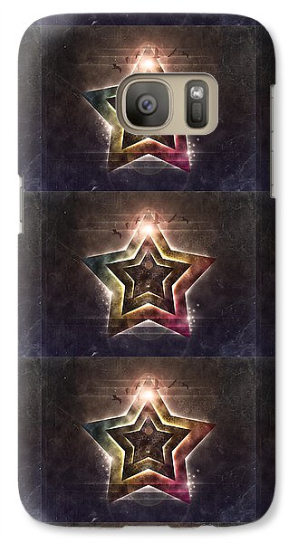 Galaxy Case featuring the digital art Star Lights by Phil Perkins