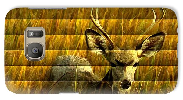Galaxy Case featuring the photograph The Buck Poses Here by Bill Kesler
