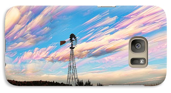 Galaxy Case featuring the photograph Crazy Wild Windmill by Bill Kesler