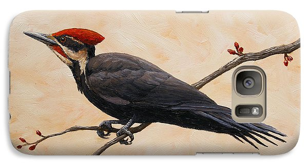 Woodpecker Galaxy S7 Case - Pileated Woodpecker by Crista Forest