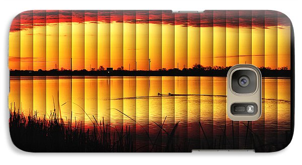 Galaxy Case featuring the photograph Magnificent Sunrise Swim by Bill Kesler