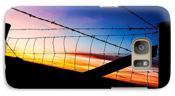 Galaxy Case featuring the photograph Hilltop Sunset by Bill Kesler