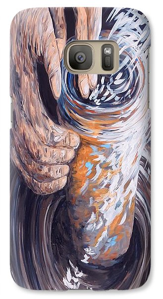 Galaxy Case featuring the painting In The Potter's Hands by Eloise Schneider