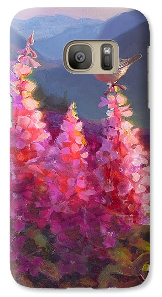 Eagle River Summer Chickadee And Fireweed Alaskan Landscape Galaxy S7 Case