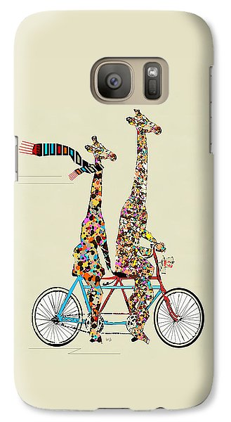 Transportation Galaxy S7 Case - Giraffe Days Lets Tandem by Bleu Bri