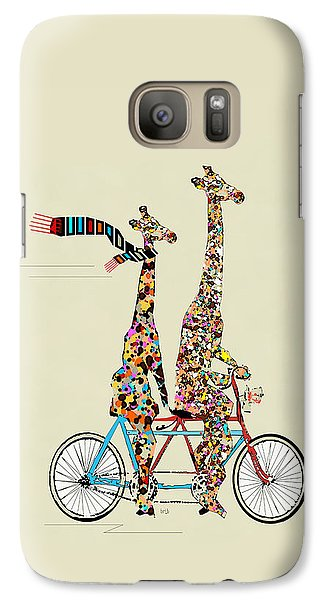Bicycle Galaxy S7 Case - Giraffe Days Lets Tandem by Bri Buckley