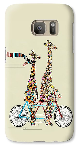 Giraffe Days Lets Tandem Galaxy Case by Bri B