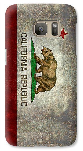 California Republic State Flag Retro Style Galaxy S7 Case by Bruce Stanfield