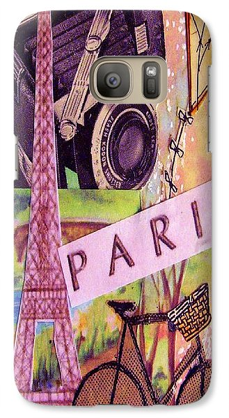 Galaxy Case featuring the drawing Paris  by Eloise Schneider