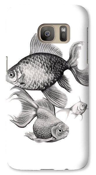 Goldfish Galaxy Case by Sarah Batalka