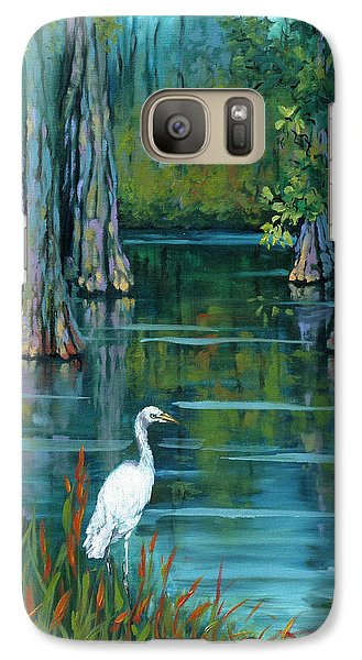 Crane Galaxy S7 Case - The Fisherman by Dianne Parks