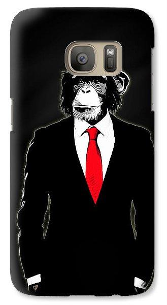 Domesticated Monkey Galaxy S7 Case by Nicklas Gustafsson