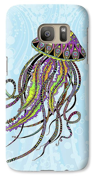 Galaxy Case featuring the drawing Electric Jellyfish by Tammy Wetzel