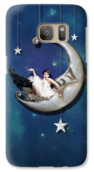 Paper Moon Galaxy S7 Case by Linda Lees