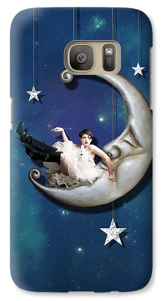Fantasy Galaxy S7 Case - Paper Moon by Linda Lees