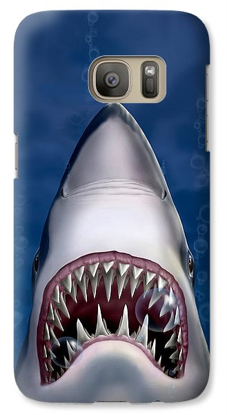 Jaws Great White Shark Art Galaxy S7 Case
