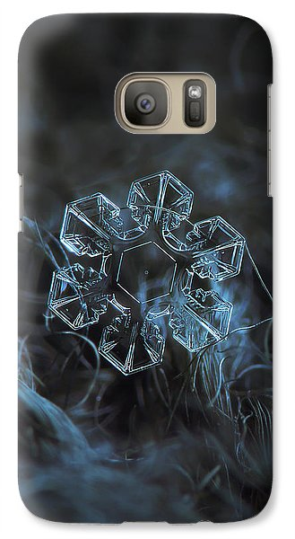 Galaxy Case featuring the photograph Snowflake Photo - The Core by Alexey Kljatov