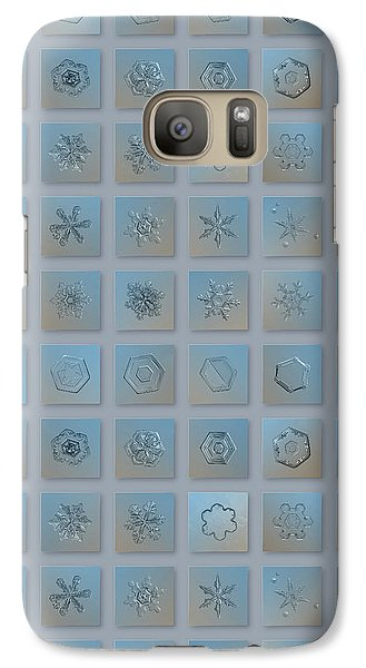 Galaxy Case featuring the photograph Snowflake Collage - Season 2013 Bright Crystals by Alexey Kljatov