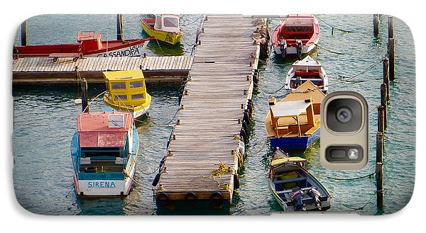 Galaxy Case featuring the photograph Colorful Fishing Boats by Jean Marie Maggi