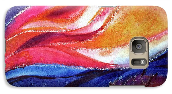 Galaxy Case featuring the painting As I Bloom by Kathy Braud