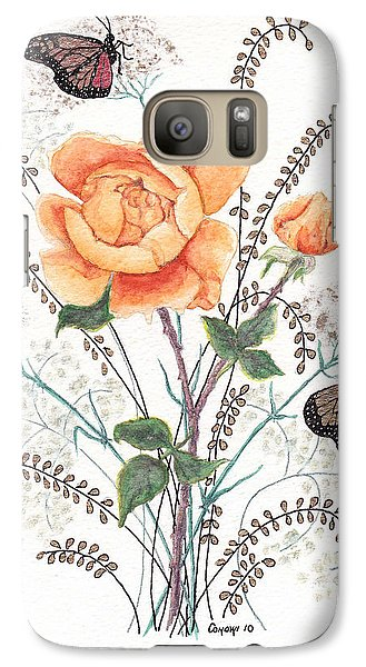 Galaxy Case featuring the painting As I Ride The Butterfly by Stanza Widen