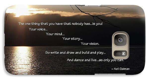 Galaxy Case featuring the photograph As Only You Can by Jordan Blackstone