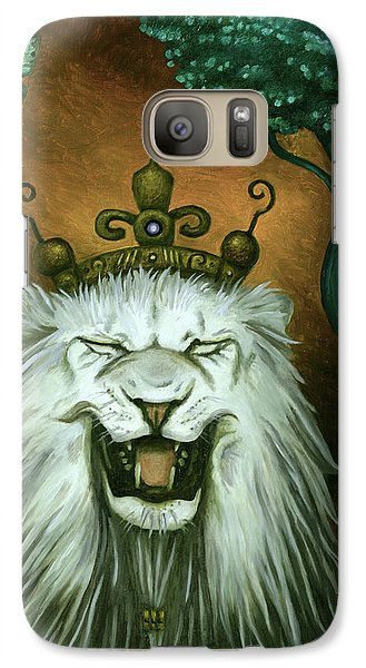 Galaxy Case featuring the painting As The Lion Laughs by Leah Saulnier The Painting Maniac