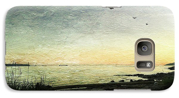 Galaxy Case featuring the photograph As The Sky Darkens  by Connie Handscomb