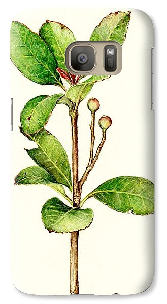 Galaxy Case featuring the painting As The Twig Is Bent The Tree Inclines. by Heidi Kriel