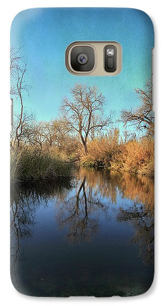 Galaxy Case featuring the photograph As We Taked About The Year by Laurie Search