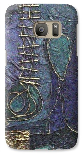 Galaxy Case featuring the painting Ascending Blue by Bernard Goodman