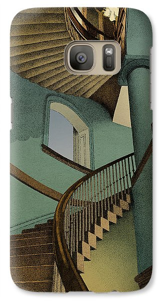 Galaxy Case featuring the drawing Ascending by Meg Shearer