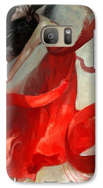 Galaxy Case featuring the painting Ascension by Steve Goad