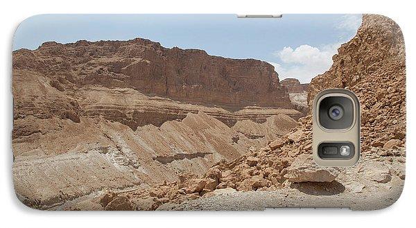 Galaxy Case featuring the photograph Ascension To Masada - Judean Desert, Israel by Yoel Koskas