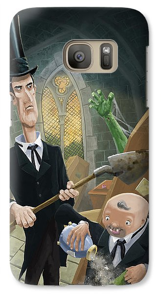 Galaxy Case featuring the digital art Ashes Fun In The Funeral Crypt by Martin Davey